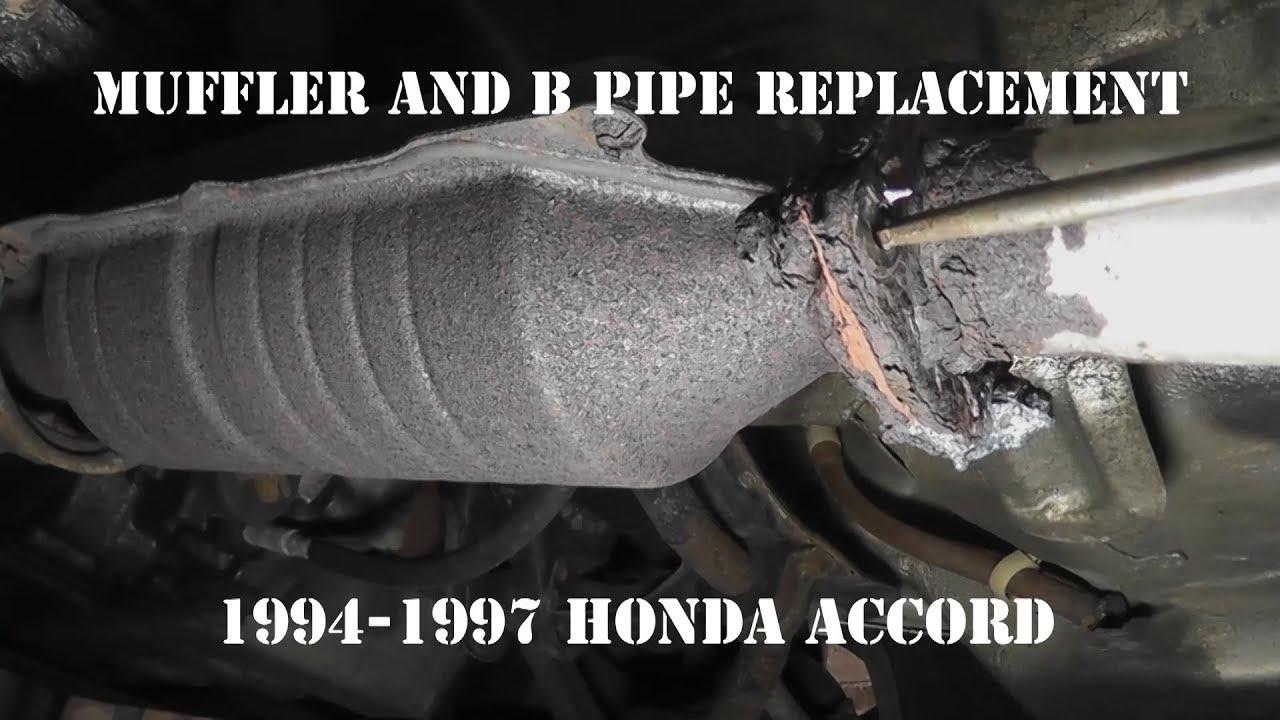 1994 1997 honda accord muffler and b pipe replacement