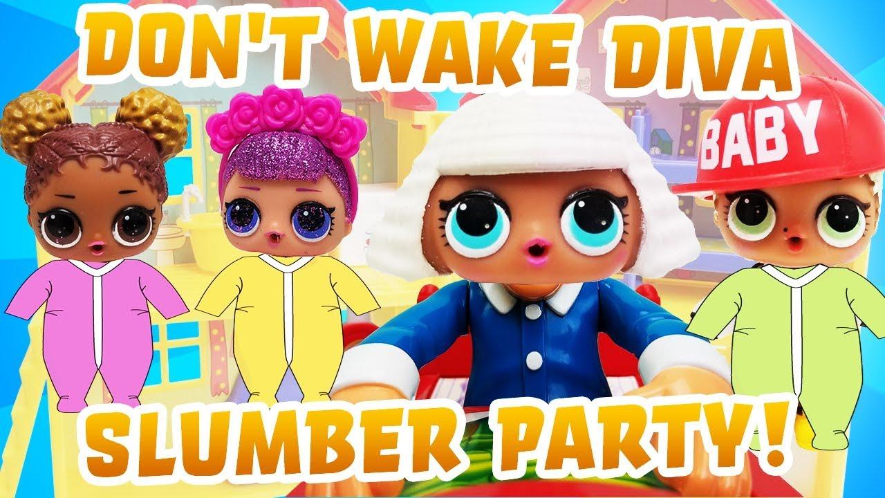 Don 39 t wake diva lol surprise dolls slumber party sugar queen court champ mc swag have fun - Diva lol surprise ...