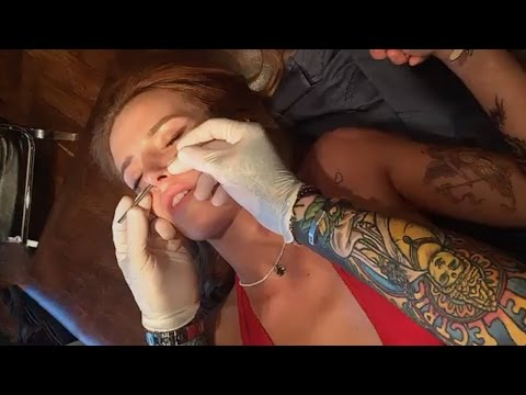 Bella Thorne Getting Nose Piercing | Full Video