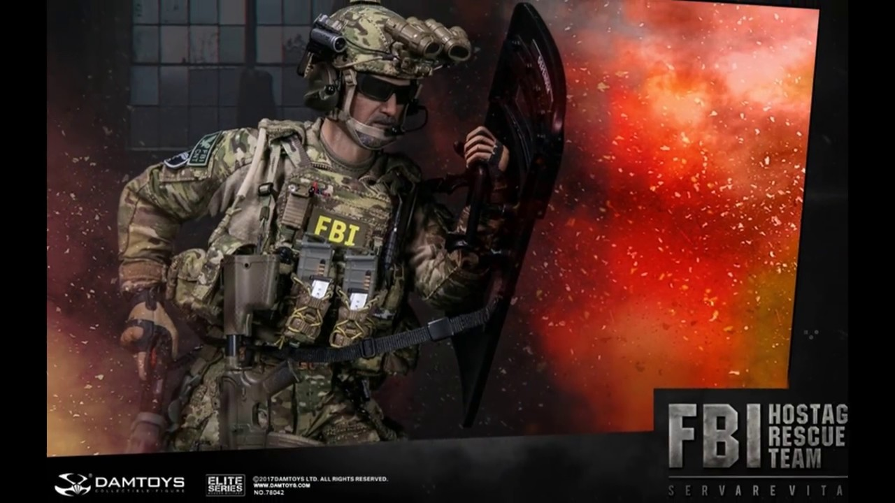 1//6 Scale DAMTOYS 78042 FBI HRT AGENT HOSTAGE RESCUE TEAM t shirt od