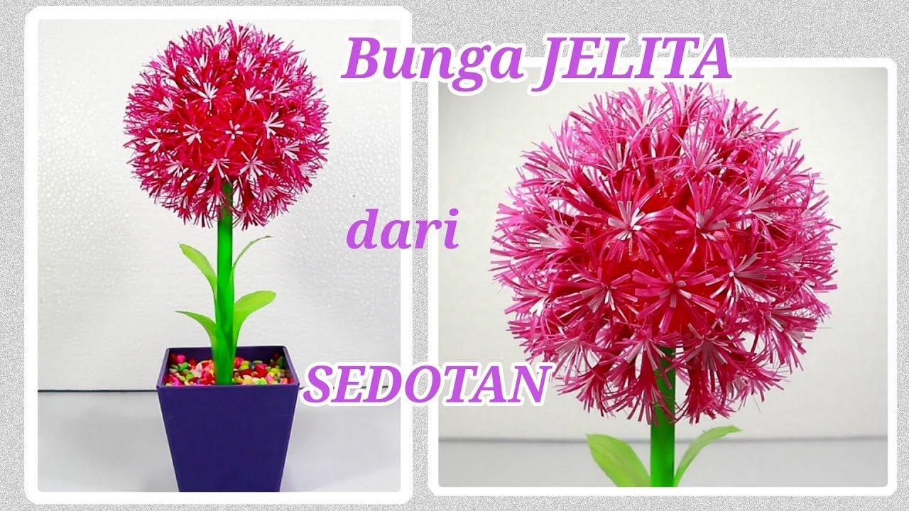 Diy Bunga Jelita Dari Sedotan Plastik Kerajinan Dari Sedotan Youtube