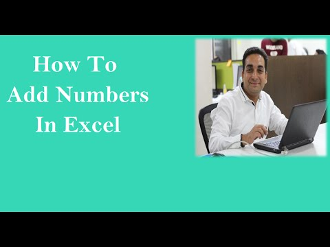 How To Add In Excel