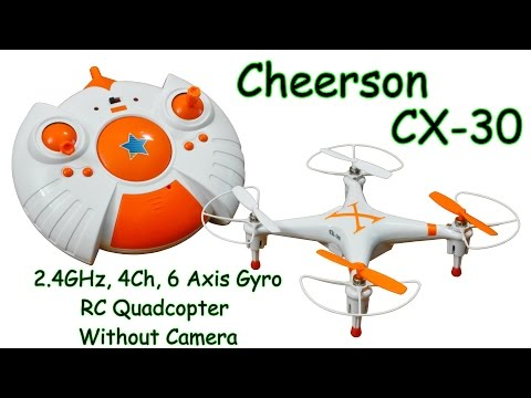 Cheerson CX-30 2.4GHz, 4Ch, 6 Axis Gyro, RC Quadcopter Without Camera (RTF)