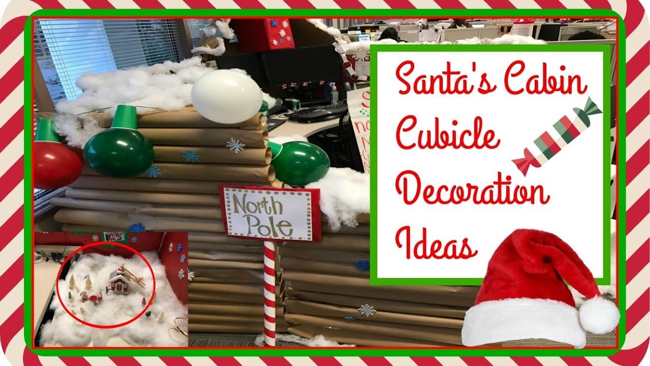 Cubicle decoration ideas Christmas 2016