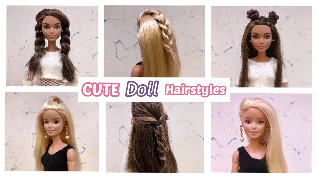 10 CUTE Barbie Hairstyles!! #10 💕