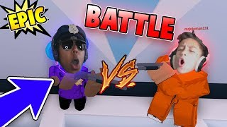 ULTIMATE FIGHT with JOEYDAPLAYER on THE TRAIN in ROBLOX JAILBREAK!!!