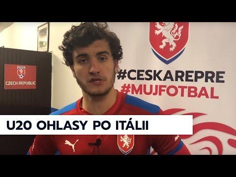 Kapitán M. Chaluš a trenér K. Krejčí hodnotí výhru ČR U20 1:0 nad Itálií U20