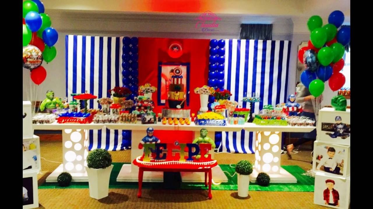 Avengers Party Decorations Avengers Party Theme Youtube