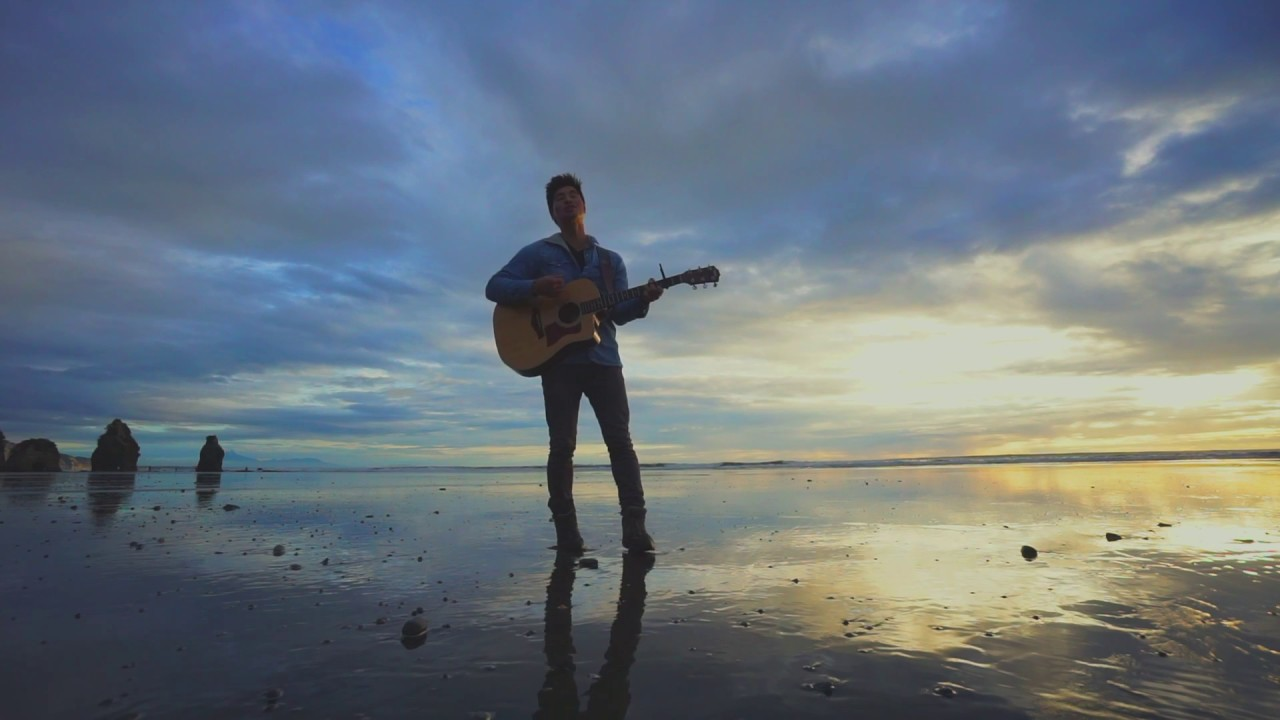 this guy performs latch by disclosure on an acoustic guitar on a deserted new zealand beach. Black Bedroom Furniture Sets. Home Design Ideas