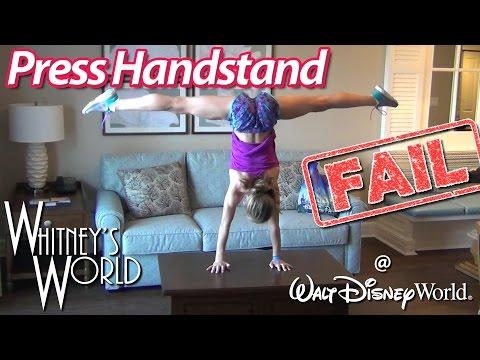 Press Handstand Fail at Disney World | Whitney Bjerken
