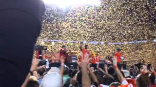 VIDEO: Clemson celebrates from the podium