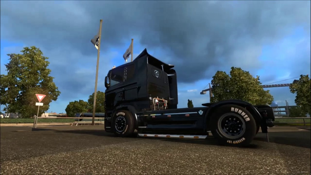 V8 illegal reworked truck v5 0 simulator games mods download -  Ets 2 V1 26 Scania Illegal V8 Fat Small Tuning Youtube