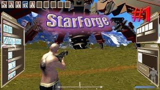 StarForge Gameplay - Survival - Day 1 - Part 1 - Basic Armor Crafting