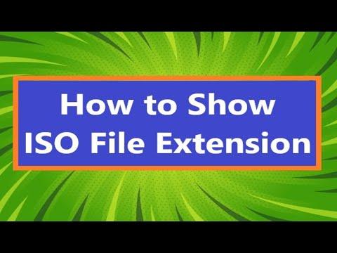 How to Show ISO file Extension 2021     ফাইল এক্সটেনশন দেখার পদ্ধতি 2021