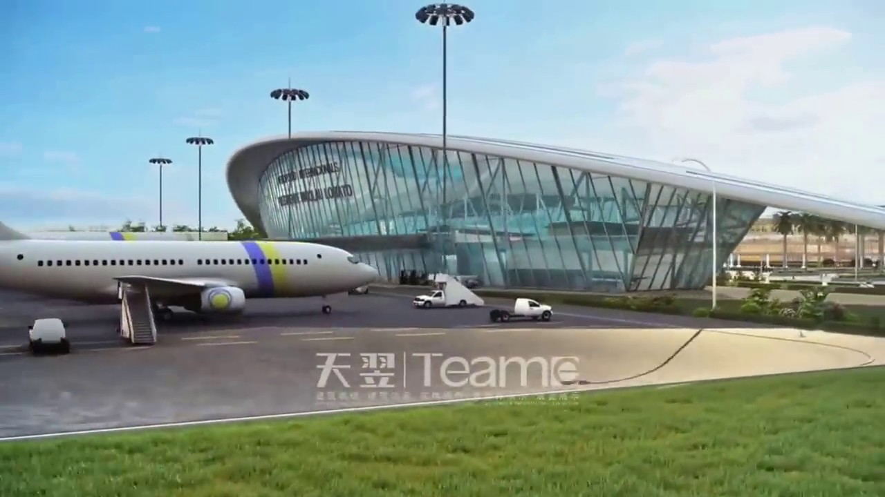 Aeroporto Dili : Aeroporto internacional de nicolao lobato em 3d youtube