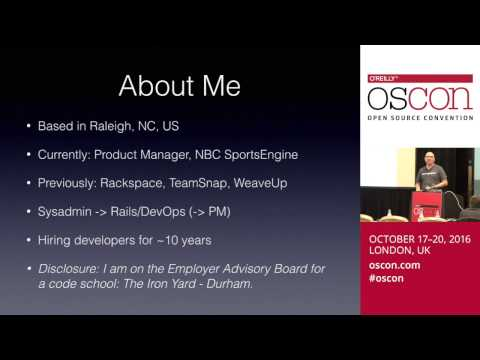 Building A Pipeline: The Case For Hiring Junior Developers (OSCON Europe 2016, London)