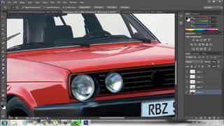 Photoshop cs6 car tuning