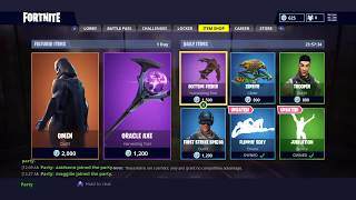 NEW FORTNITE OMEN SKIN AND ORACLE AXE