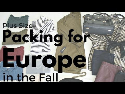 What to pack for Europe in Fall - Plus size edition