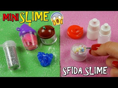 SLIME MINI! (SLIME PIU' PICCOLI MAI FATTI)SFIDA DAVVERO DIFFICILE! Iolanda Sweets