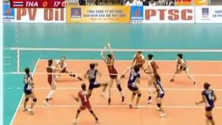 set 2/4 : Thailand Beats China-Final  15th Asian Women