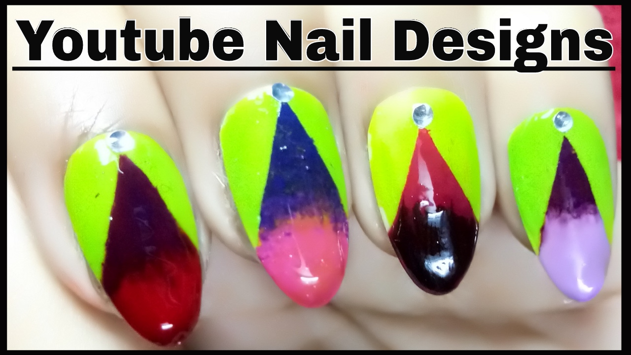 Easy Nail Art Designs Youtube Videos For Short Nails Step By Step