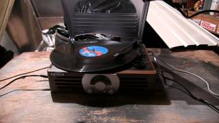 Destroying A Vinyl Record (During Playback)