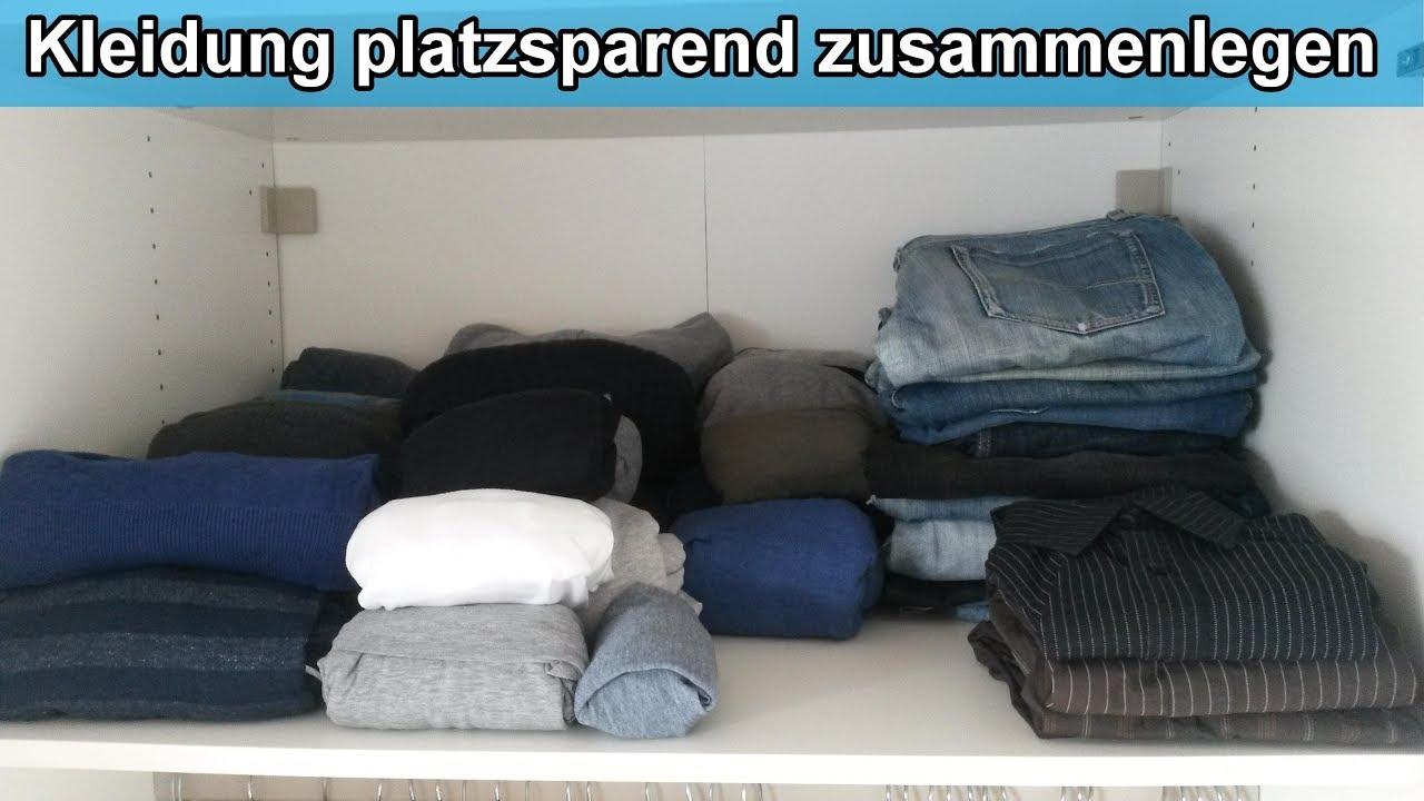Kleiderschrank Organisieren Kleidung Platzsparend Zusammenlegen Einräumen Klamotten Falten