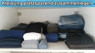 Kleiderschrank organisieren – Kleidung  platzsparend zusammenlegen & einräumen – Klamotten falten