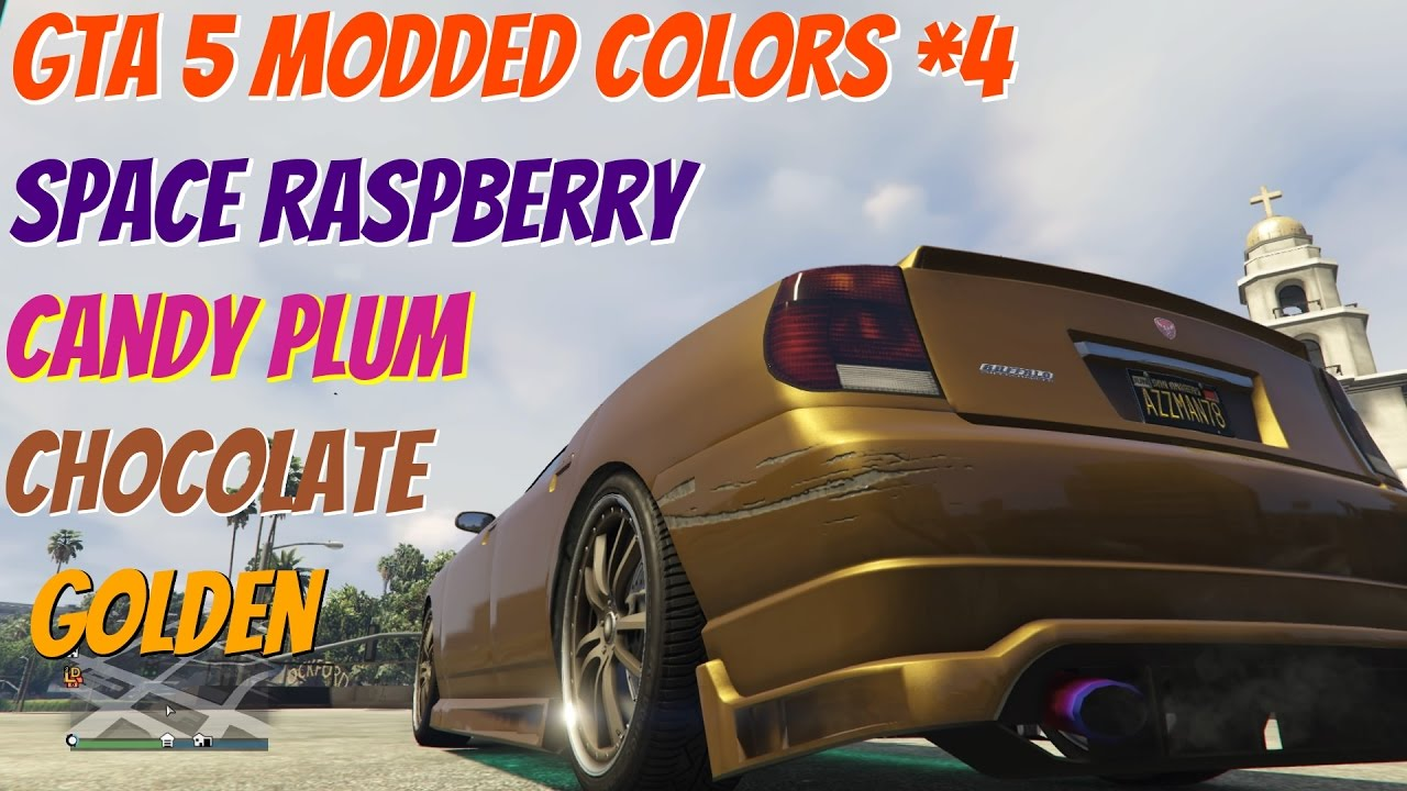 GTA 5 Online Modded Colors: Golden, Space Raspberry, Candy Plum, Chocolate