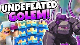 UNDEFEATED BEST GOLEM NEW RAGE WAR MODE DECK! | Clash Royale | GOLEM BEATDOWN OP