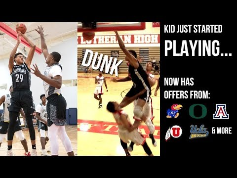 7' Kid JUST STARTED PLAYING BASKETBALL & Now Has OFFERS From EVERYWHERE!! Arizona, Oregon etc.