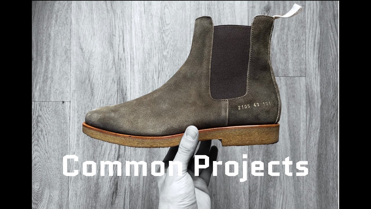 01caba6b574 Common Projects Chelsea Boots 'suede olive'   UNBOXING & ON FEET   luxury  shoes   2018