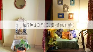 Ways To Decorate Your Home Corners | Home Corners decorating Ideas Using Banjara Market Products