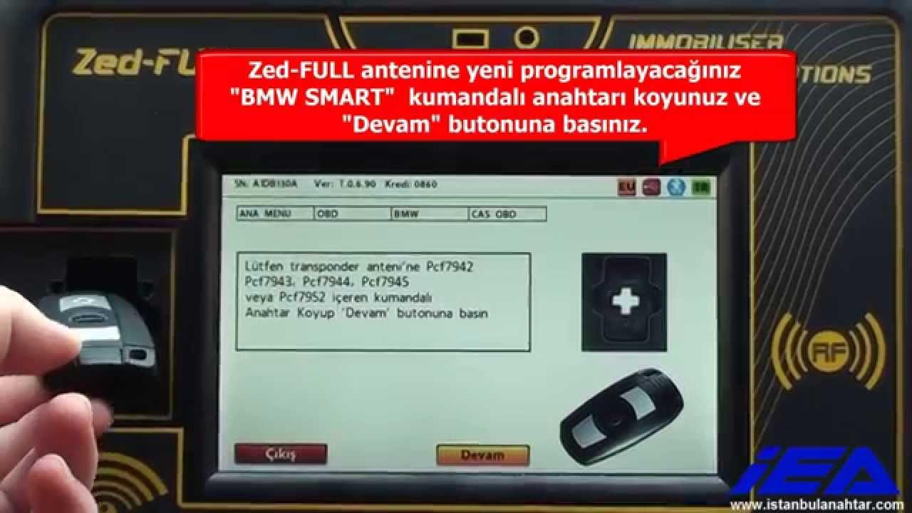 Bmw Cas3 Cas3 Zed Full Ile Obd 220 Zerİnden Smart Key