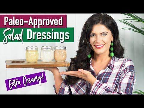 3 Healthy & Creamy Salad Dressings (Paleo Friendly) | Healthy Salad Dressings
