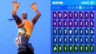 HYPERION SKIN SHOWCASE WITH ALL FORTNITE DANCES & EMOTES