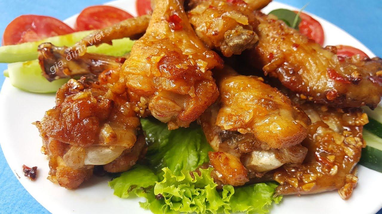 Cách làm cánh gà chiên nước mắm thơm vàng giòn mà thịt không bị khô