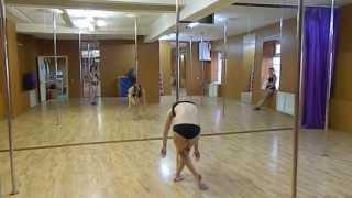 Школа Pole Dance Стрекоза. Урок Pole Dance.