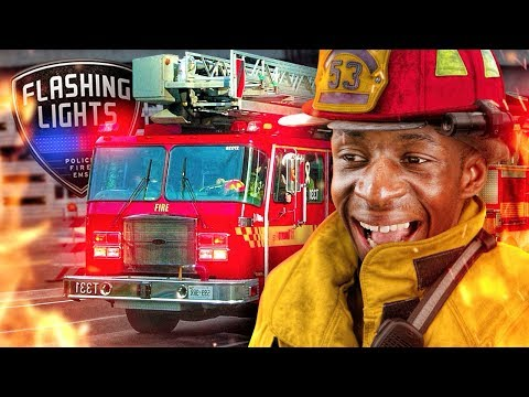 FIREFIGHTERS: THE MOVIE!!! TBJZLPlays FLASHING LIGHTS  