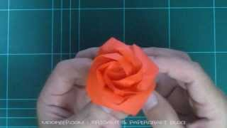 Repeat youtube video วิธีพับกระดาษเป็นดอกกุหลาบ (แบบดั้งเดิม) (Origami Rose)