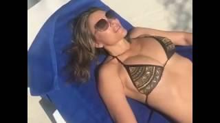 Liz Hurley Bikini Relax on Instagram