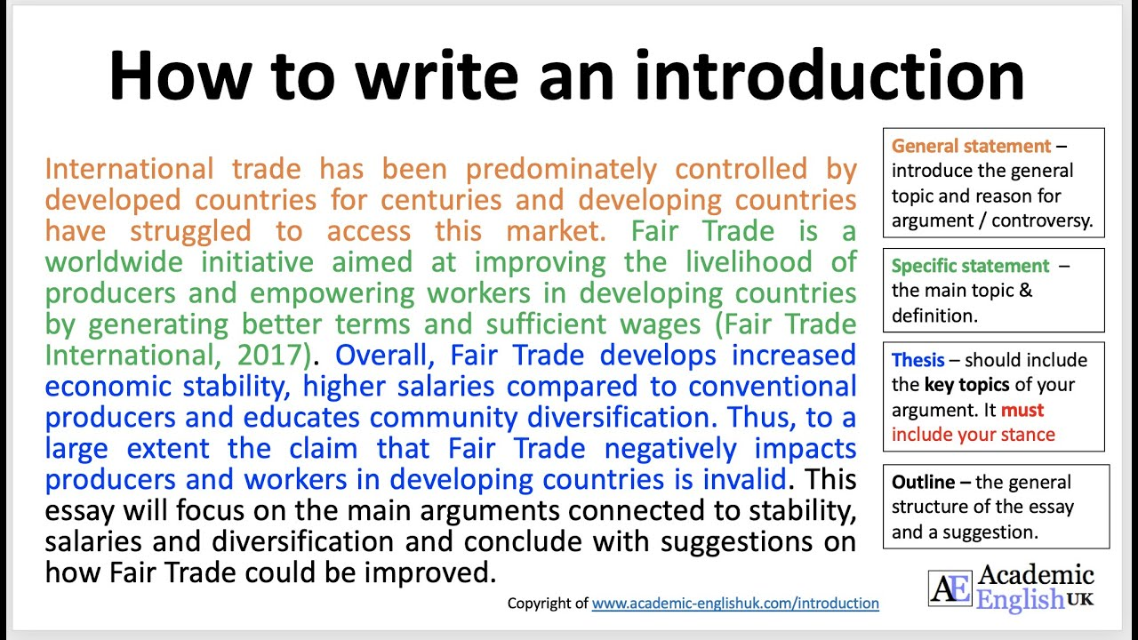 How to write an academic introduction / Academic English UK