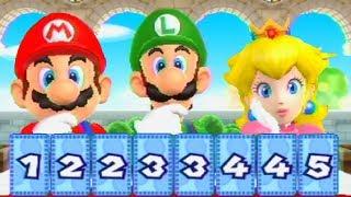 Mario Party 9 Minigames - Luigi vs Mario vs Peach vs Daisy