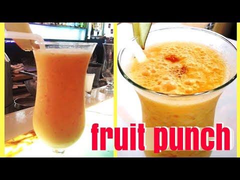 Fruit Punch I Fruit Punch Mocktail I Fruit Punch Recipe