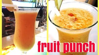 Fruit Punch I Fruit punch mocktail I Fruit Punch Recipe