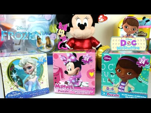 3 Puzzles de Frozen, Doctora Juguetes y  Minnie Mouse| Juguetes