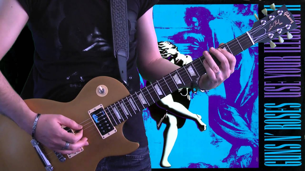 guns n roses estranged full guitar cover with loop control