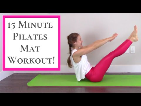 Pilates Workout 15 Minute Full Body Pilates Home Workout!