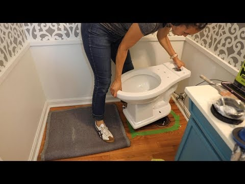 BEFORE & AFTER: How to Install a Toilet Yourself - Thrift Diving